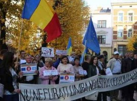 """Românii din Ucraina în """"menghina geopolitică"""""""